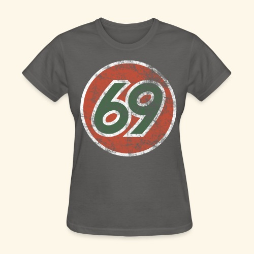 Vintage 69 Logo - Charcoal - Women's T-Shirt