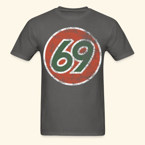 Vintage 69 Logo - Charcoal - Men's T-Shirt