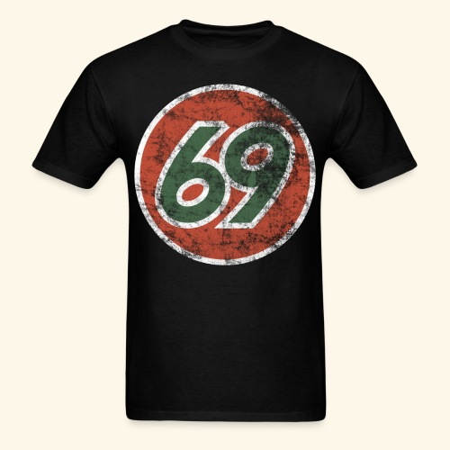 Vintage 69 Logo - Black - Men's T-Shirt