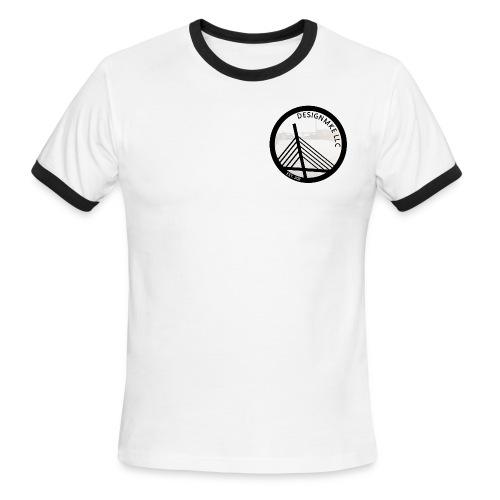 DesignMKE Company T-Shirt BLK Let's design something together. - Men's Ringer T-Shirt