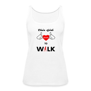 This Girl Loves To Walk Tank Top - Women's Premium Tank Top