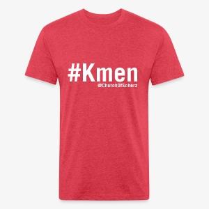 Men's #Kmen Vintage T-Shirt - Fitted Cotton/Poly T-Shirt by Next Level