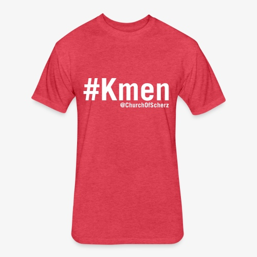 Men's #Kmen Vintage T-Shirt - Fitted Cotton/Poly T-Shirt by Next Level