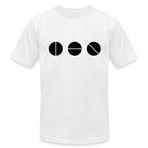 Studio Knobs (White)  - Men's T-Shirt by American Apparel