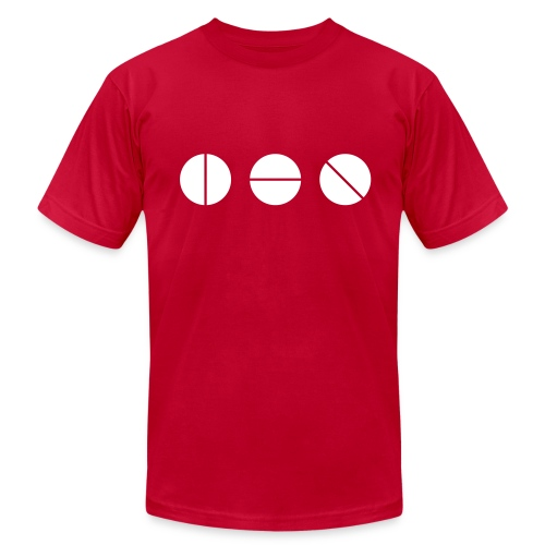 Studio Knobs (Red) - Men's T-Shirt by American Apparel