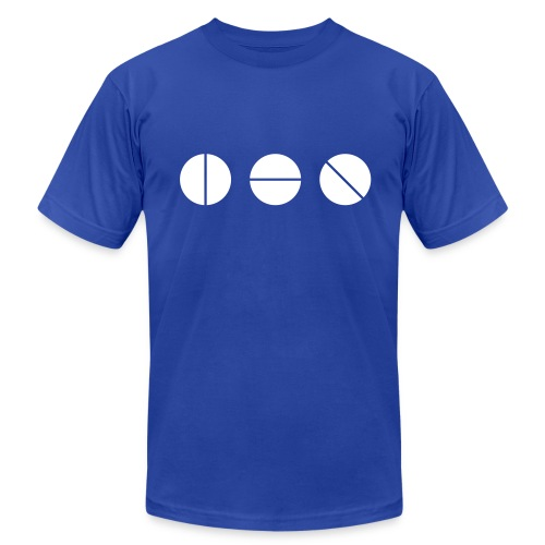 Studio Knobs (Blue) - Men's T-Shirt by American Apparel