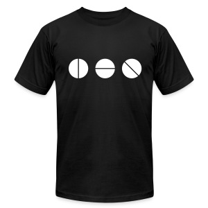 Studio Knobs (Black)  - Men's T-Shirt by American Apparel