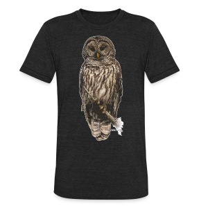 Barred Owl 8630_for Black - Unisex Tri-Blend T-Shirt by American Apparel