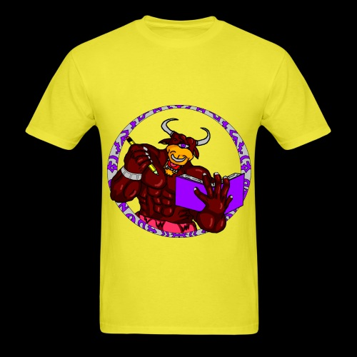 ARMED TO THE BRAIN (Yellow) - Men's T-Shirt