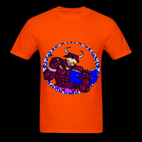 Armed to the Brain (Orange) - Men's T-Shirt