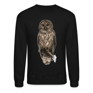 Barred Owl 8630_for Black - Crewneck Sweatshirt