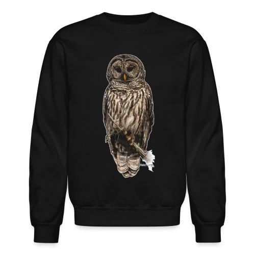 Barred Owl 8630_for Black - Crewneck Sweatshirt