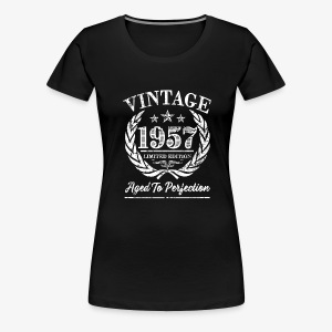 Vintage 1957 Funny 60th birthday shirt - Women's Premium T-Shirt