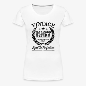 Vintage 1967 50th birthday shirt - Women's Premium T-Shirt
