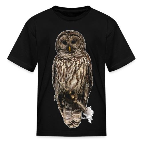 Barred Owl 8630_for Black - Kids' T-Shirt