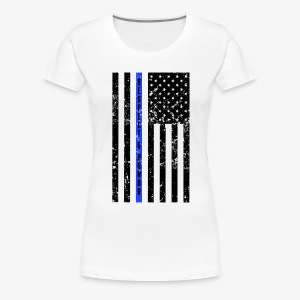 Thin blue line police officer shirt  - Women's Premium T-Shirt