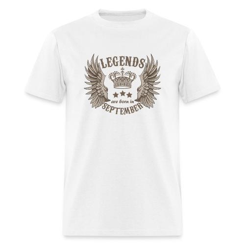 Legends Are Born In September - Men's T-Shirt
