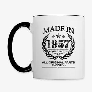 Made in 1957 - 60th birthday coffee mug - Contrast Coffee Mug