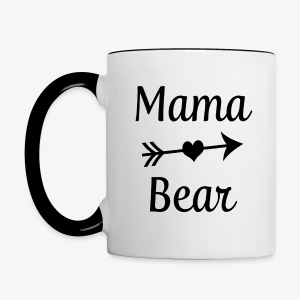 Mama Bear coffee mug - Contrast Coffee Mug
