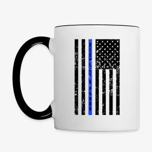 Thin Blue Line - Police Officer Coffee mug - Contrast Coffee Mug