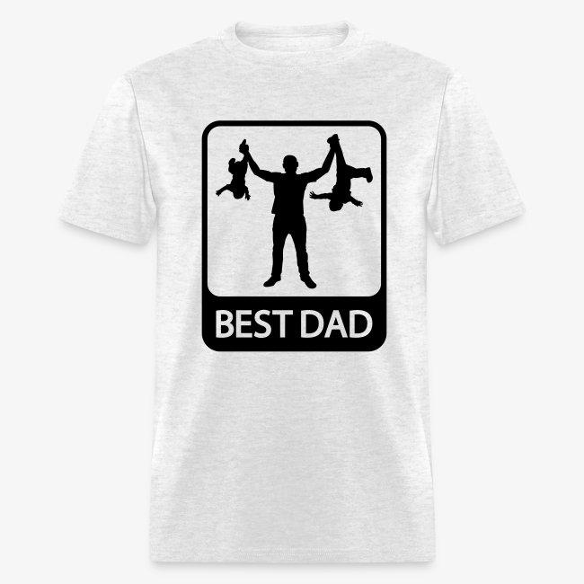 0898e76d Worksaheart | Funny Best Dad shirt - Mens T-Shirt