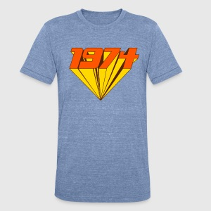 1974 T-Shirts - Unisex Tri-Blend T-Shirt by American Apparel