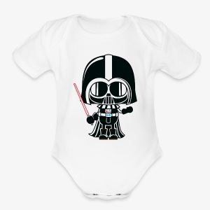 Funny baby Darth vader inspired shirt - Short Sleeve Baby Bodysuit