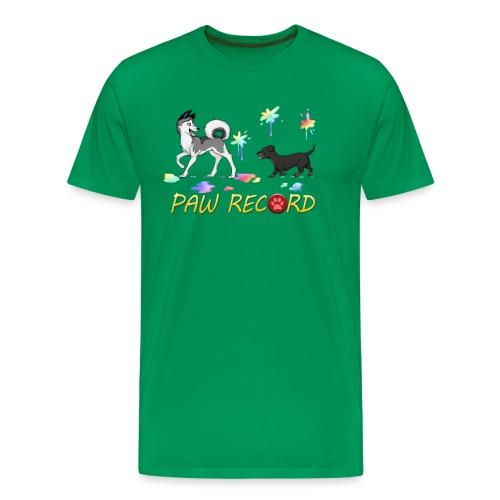 Paw Record Cartoon - Men's Premium T-Shirt