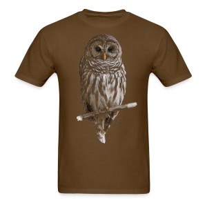 Barred Owl 4757_for_brown - Men's T-Shirt