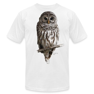Barred Owl 4757_for_white - Men's T-Shirt by American Apparel