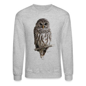 Barred Owl 4757_for_white - Crewneck Sweatshirt