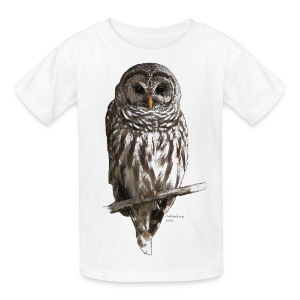 Barred Owl 4757_for_white - Kids' T-Shirt