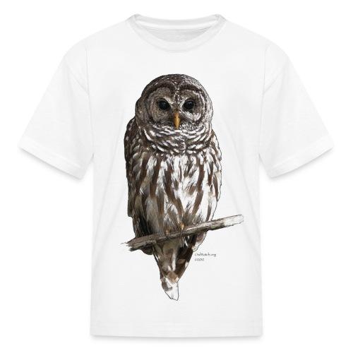 Barred Owl 4757_for_white - Kids' T-Shirt