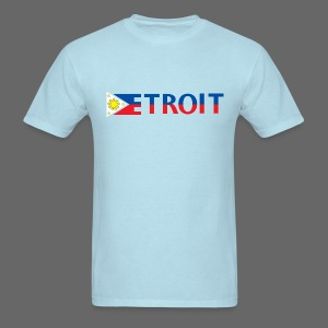 Detroit Philippines Flag - Men's T-Shirt