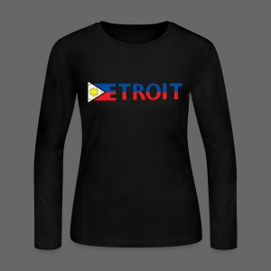 Detroit Philippines Flag - Women's Long Sleeve Jersey T-Shirt