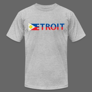 Detroit Philippines Flag - Men's T-Shirt by American Apparel