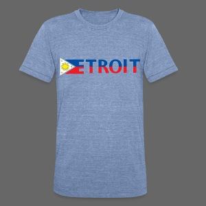 Detroit Philippines Flag - Unisex Tri-Blend T-Shirt by American Apparel