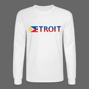 Detroit Philippines Flag - Men's Long Sleeve T-Shirt