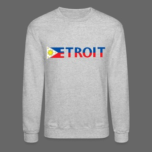 Detroit Philippines Flag - Crewneck Sweatshirt