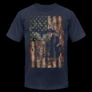 T-Shirts ~ Men's T-Shirt by American Apparel ~ Michigan - USA Flag