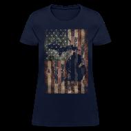 T-Shirts ~ Women's T-Shirt ~ Michigan - USA Flag
