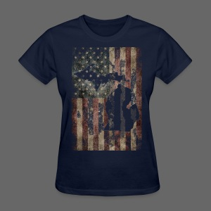 Michigan - USA Flag - Women's T-Shirt