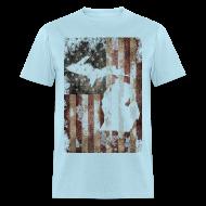 T-Shirts ~ Men's T-Shirt ~ Michigan - USA Flag