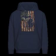 Hoodies ~ Men's Hoodie ~ Michigan - USA Flag