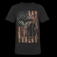 T-Shirts ~ Unisex Tri-Blend T-Shirt ~ Michigan - USA Flag