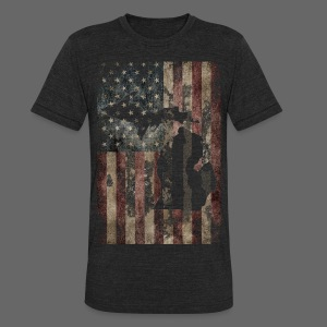 Michigan - USA Flag - Unisex Tri-Blend T-Shirt by American Apparel