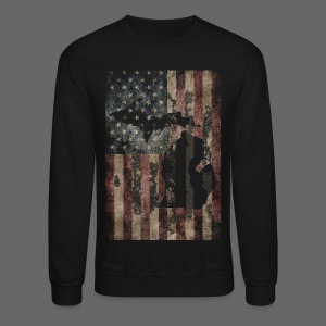 Michigan - USA Flag - Crewneck Sweatshirt