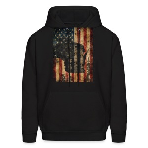 Wisconsin USA Flag - Men's Hoodie