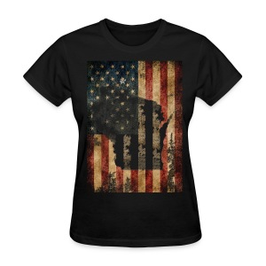 Wisconsin USA Flag - Women's T-Shirt