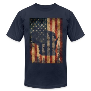 Wisconsin USA Flag - Men's T-Shirt by American Apparel